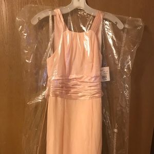 David's Bridal Petal Pink bridesmaid dress